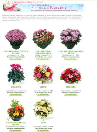 Faire d poser des fleurs sur une tombe par interflora le for Les noms des fleurs