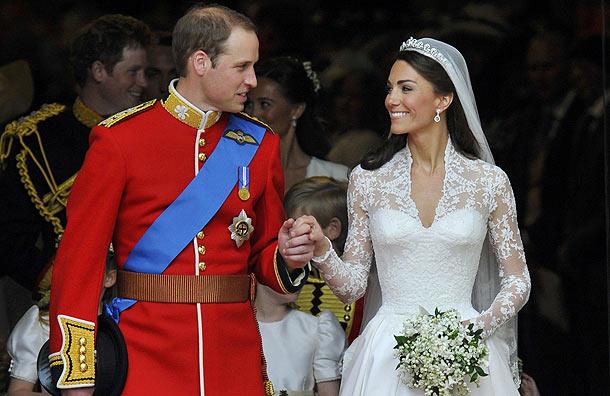 Bouquet Kate Middleton et William sourire