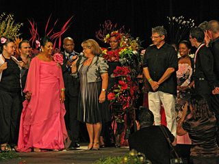 Flor-amazone_Josiane Coupry Présidente Interflora France et Eric Molika