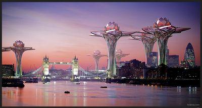 """Ville dans le ciel"""" un projet imaginaire un projet imaginaire et utopique -  Le pouvoir des fleurs"""