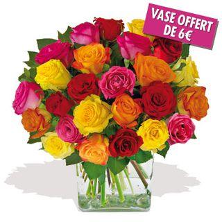 Interflora-brassee 25 roses