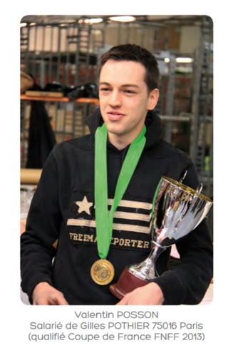 Valentin_Posson vainqueur de la Coupe de France 2013 des Fleuristes sélectionné en mars à Paris