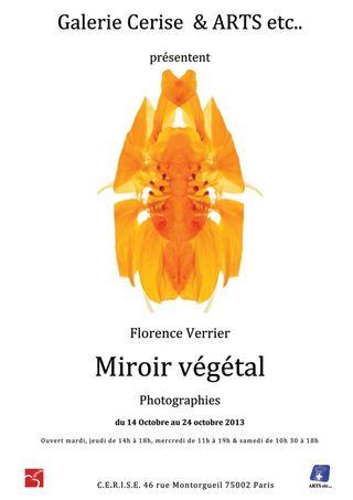 Florence Verrier Affiche Miroir  Végétal  Photographies