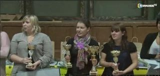 Podium coupe espoir Interflora Normandie 2013