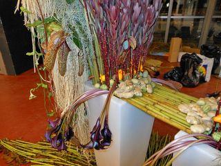 détail décoration avec Polygonum floralies de Bourg en Bresse