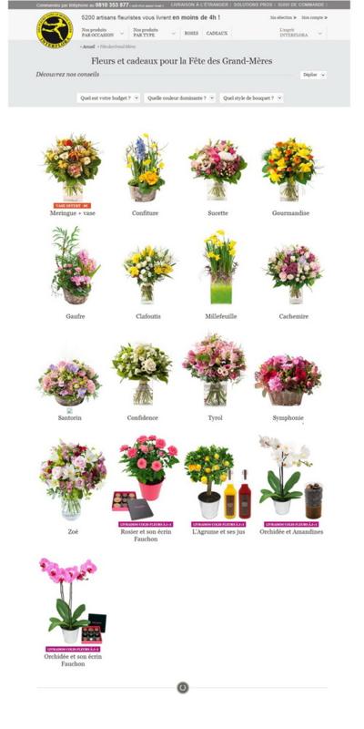 Interflora fete des Grands Mères 2014
