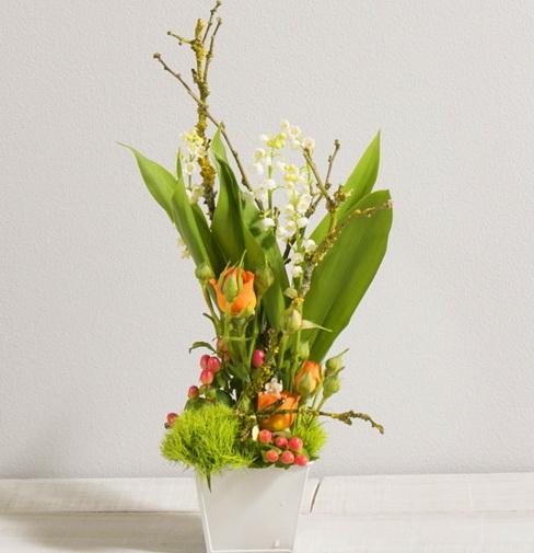 les compositions avec muguet porte bonheur propos es par interflora le pouvoir des fleurs. Black Bedroom Furniture Sets. Home Design Ideas