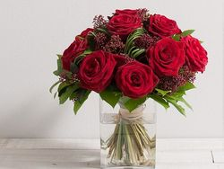 Bouquet de roses par Interflora