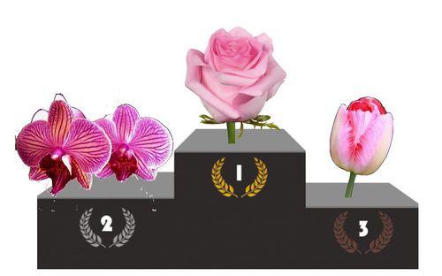 Podium fleurs 1