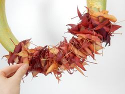 Christine de Beer wiggle-a-few-rolled-leaves-between-the-glued-ones-to-create-a-completly-random-pattern