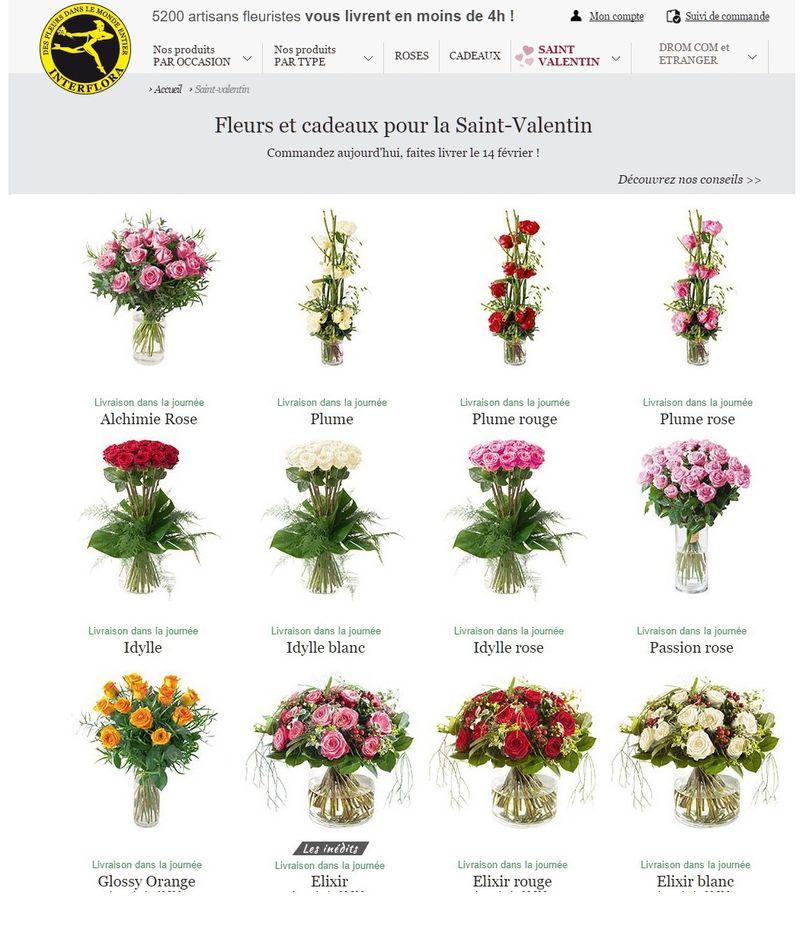 Interflora St Valentin 2