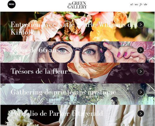 Green Gallery site internet