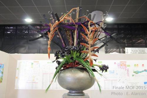 Création Guy Taffin MOF 2015 en Art Floral
