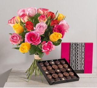 Interflora 20 roses et chocolat