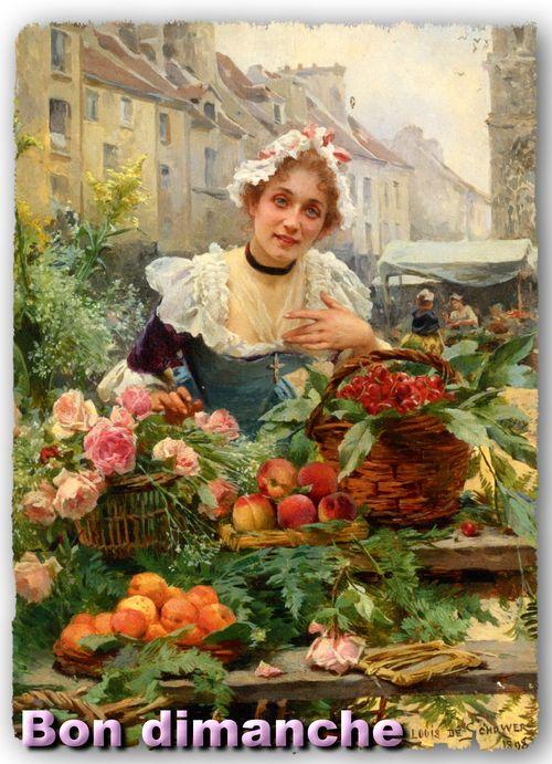Louise Marie de Schryver 1862-1942 vendeur de fleurs via Mimbeau