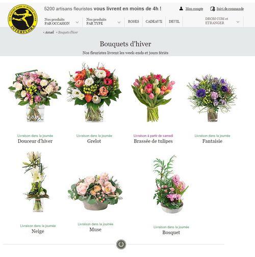 Interflora bouquets hiver