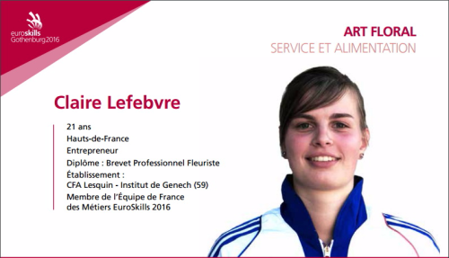 EuroSkills Claire Lefebvre
