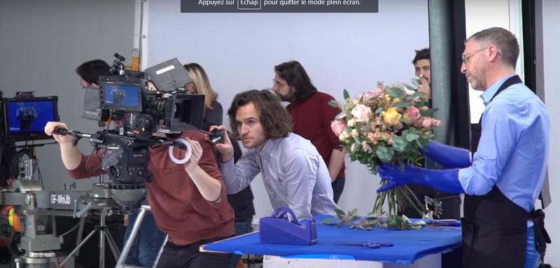 St valentin tournage Interflora