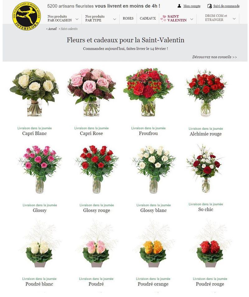 Interflora St Valentin 3