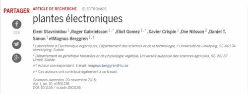 Rose électronique advances sciences