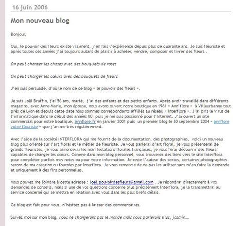 Blog 16 juin 2006