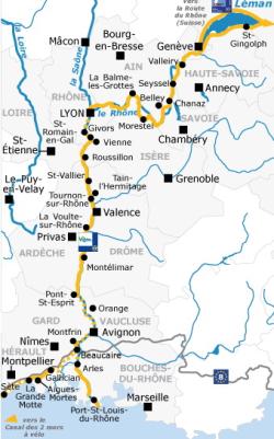 Viarhona itinéraire