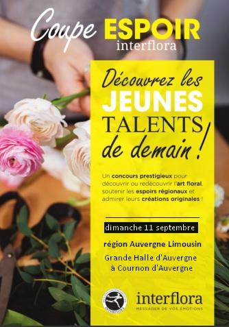 Coupe espoir - Interflora Auvergne Limousin