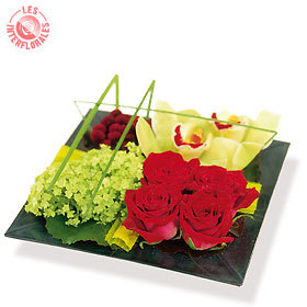 composition florale interflora tahoa le pouvoir des fleurs. Black Bedroom Furniture Sets. Home Design Ideas